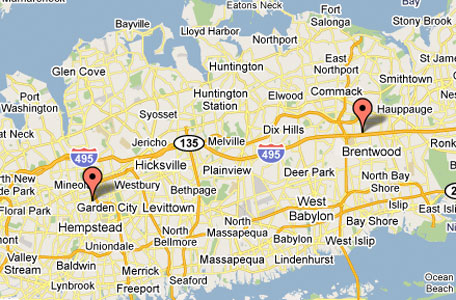 Map Of Garden City Ny Map & Directions | Garden City | Hauppauge